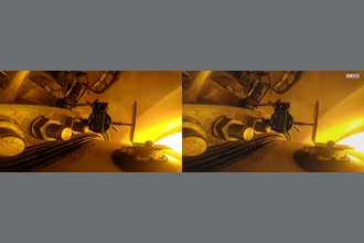 a thumdnail for published video. Motion magnify from inside a wind turbine Hub. Video footage showing both axial movements and vibration (through motion magnification).   Frequency range: 7.5 - 15Hz Amplification: 100