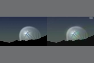 a thumdnail for published video. 2009 Norway. So far no explanation for this spiral in the sky.