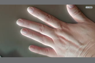 a thumdnail for published video. my own hand for trial1